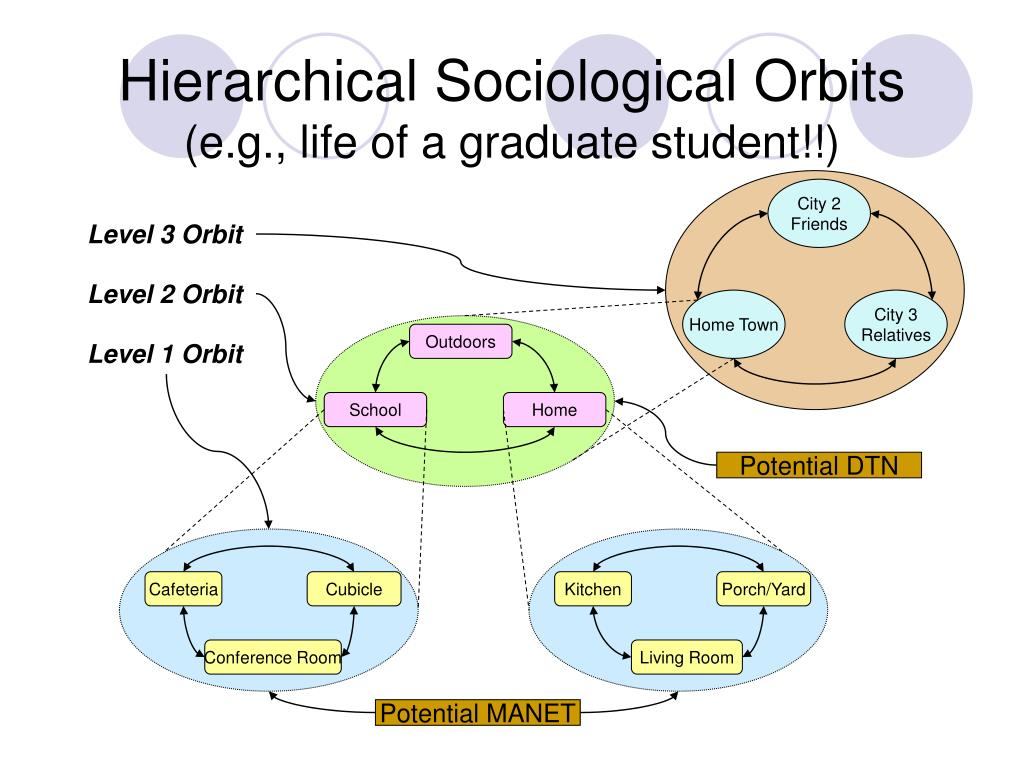 Hierarchical Sociological Orbits