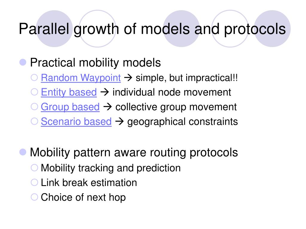Parallel growth of models and protocols