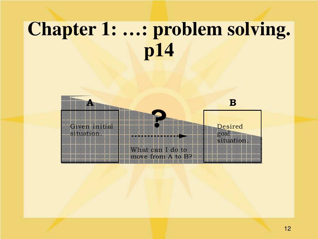 Chapter 1: …: problem solving. p14