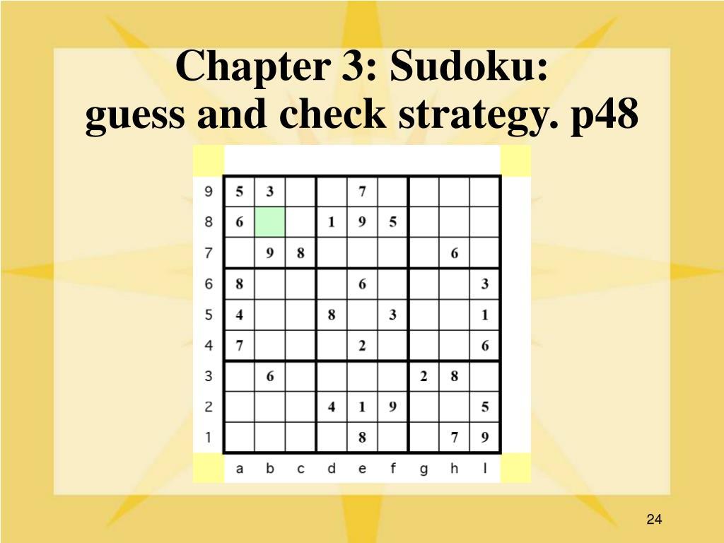Chapter 3: Sudoku: