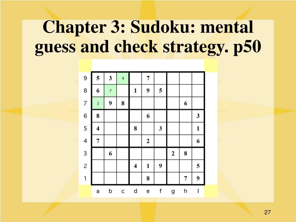 Chapter 3: Sudoku: mental