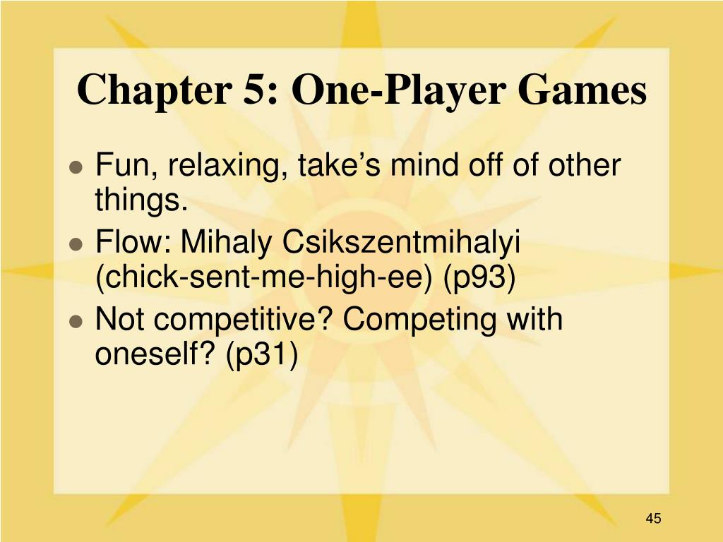 Chapter 5: One-Player Games
