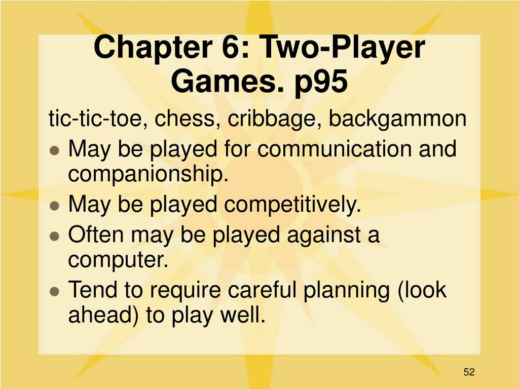 Chapter 6: Two-Player Games. p95