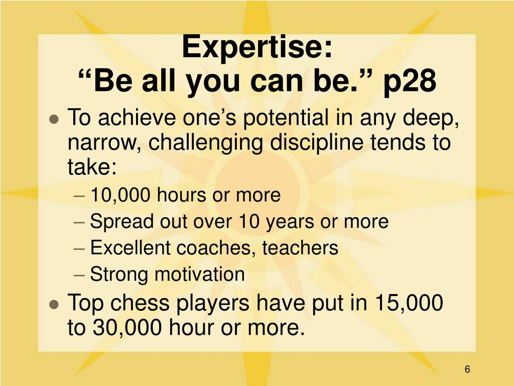 Expertise: