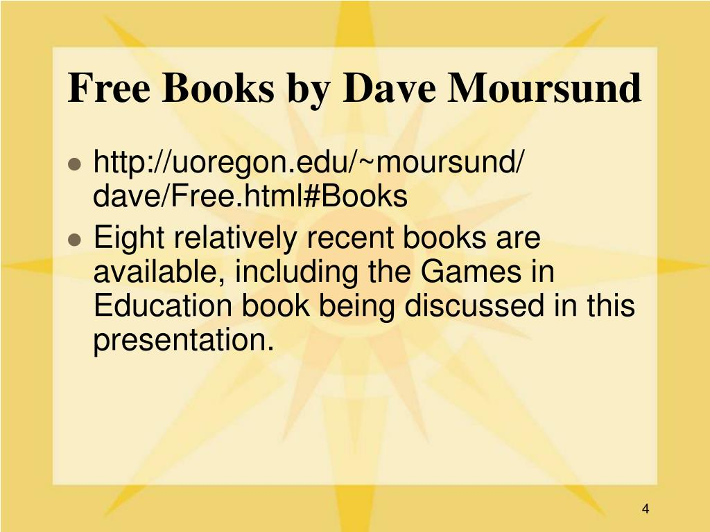 Free Books by Dave Moursund