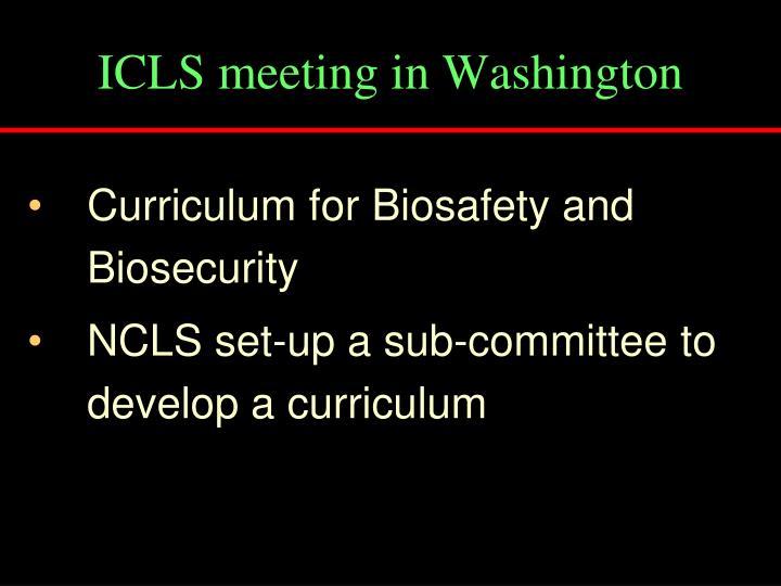 ICLS meeting in Washington