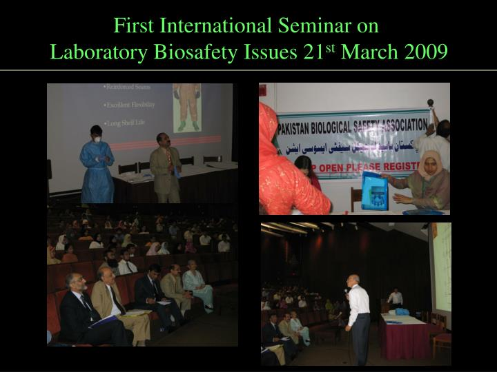 First International Seminar on