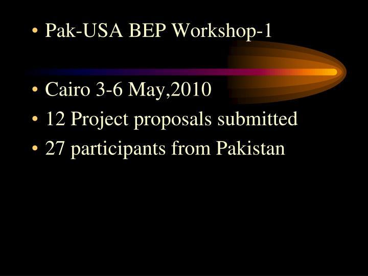 Pak-USA BEP Workshop-1