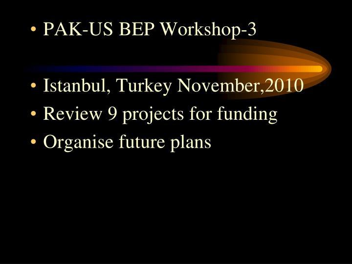 PAK-US BEP Workshop-3