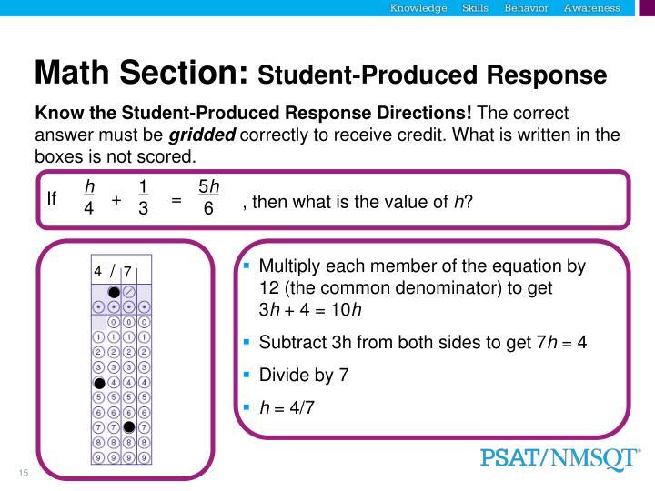 Math Section: