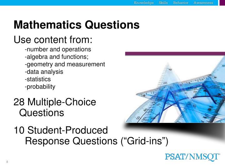 Mathematics Questions