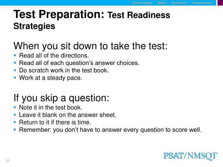Test Preparation: