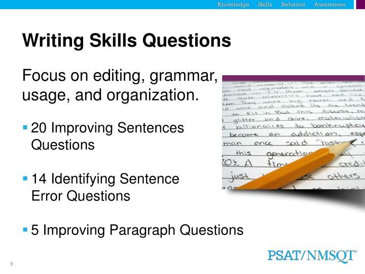 Writing Skills Questions
