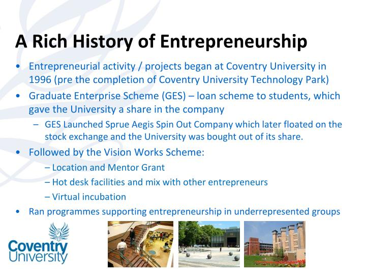 A Rich History of Entrepreneurship