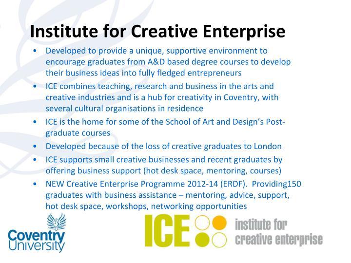 Institute for Creative Enterprise
