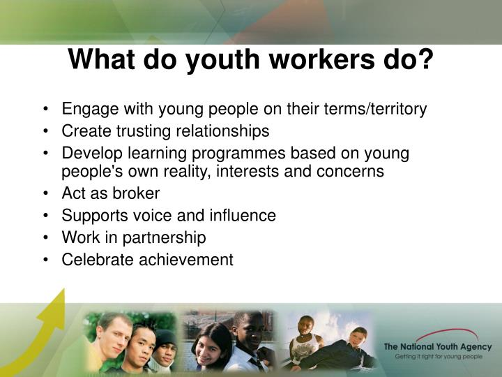 What do youth workers do