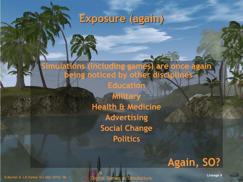 Exposure (again)