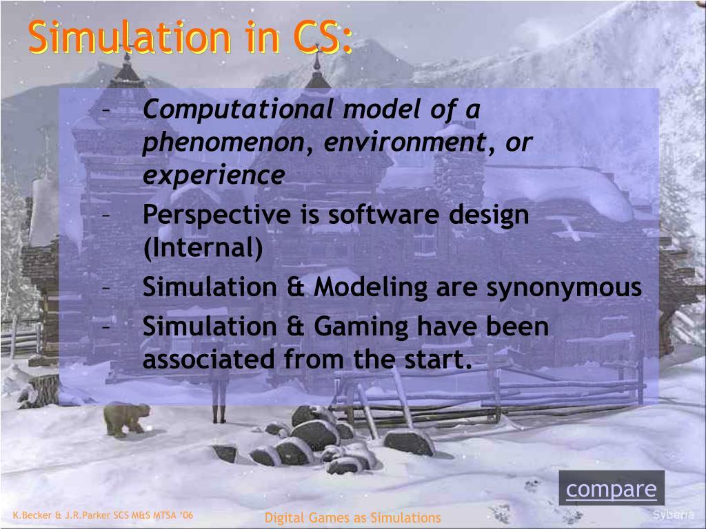 Simulation in CS: