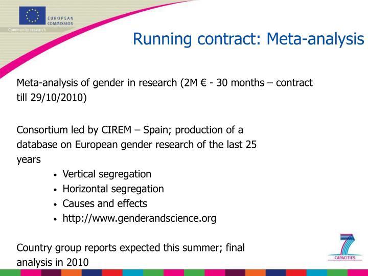 Running contract: Meta-analysis