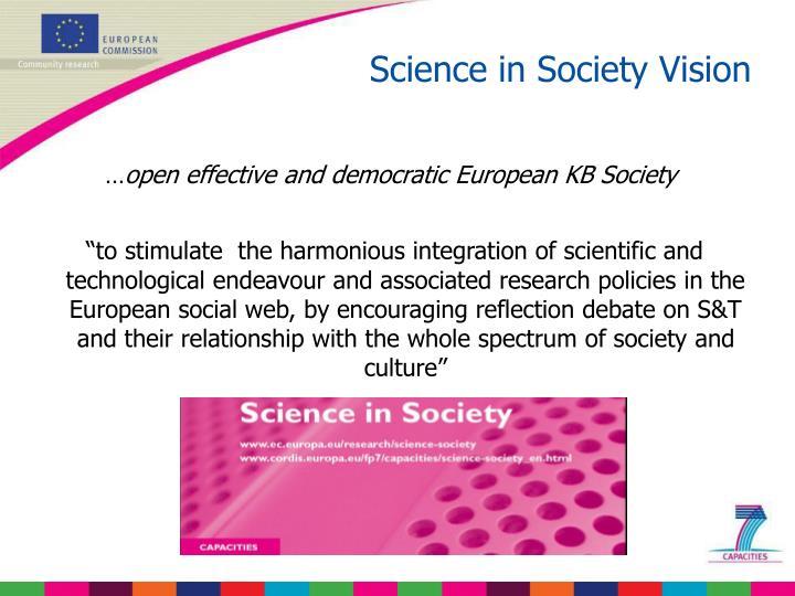 Science in Society Vision