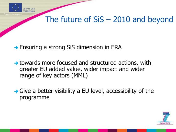 The future of SiS – 2010 and beyond