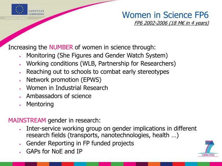 Women in Science FP6