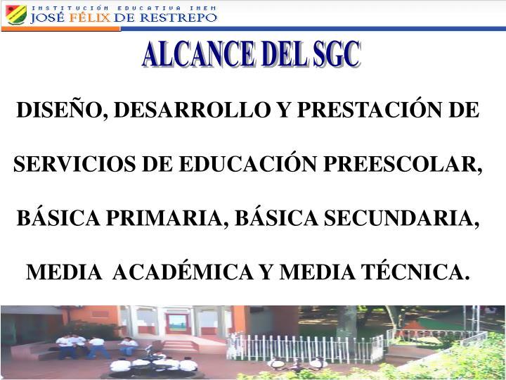 ALCANCE DEL SGC