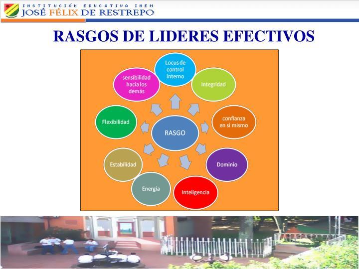 RASGOS DE LIDERES EFECTIVOS