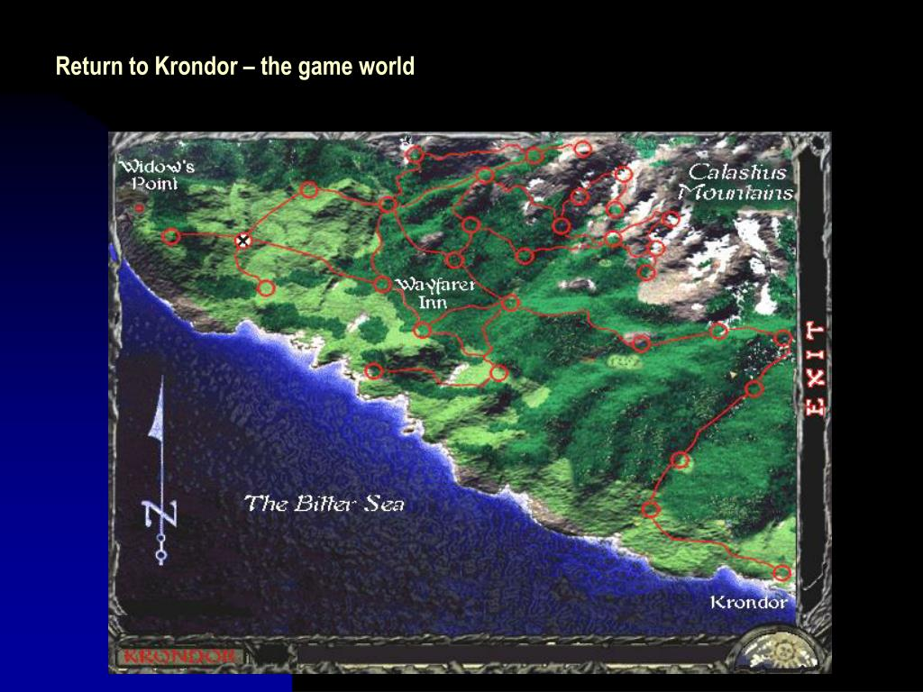 Return to Krondor – the game world
