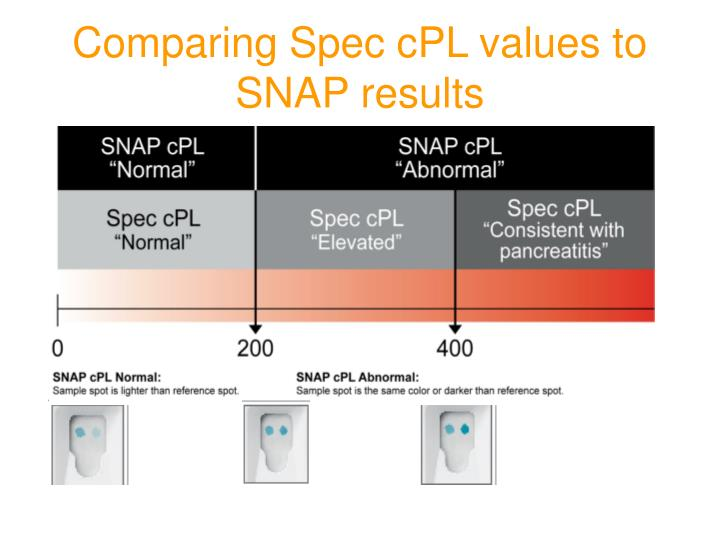 Comparing Spec cPL values to SNAP results