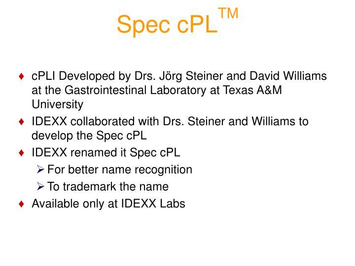 Spec cPL
