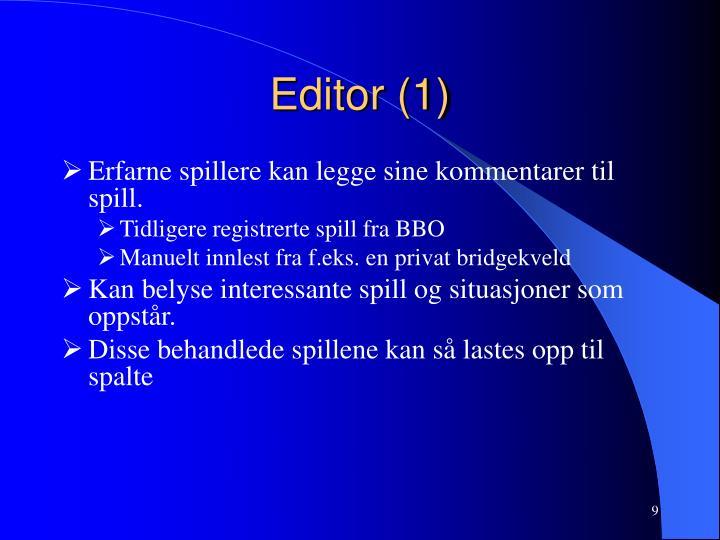 Editor (1)