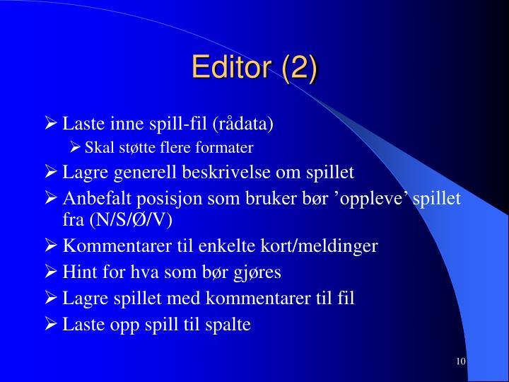 Editor (2)