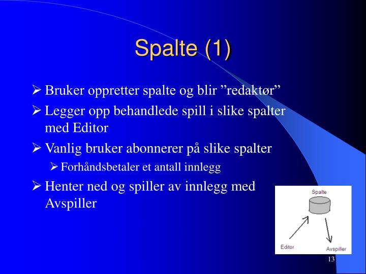 Spalte (1)