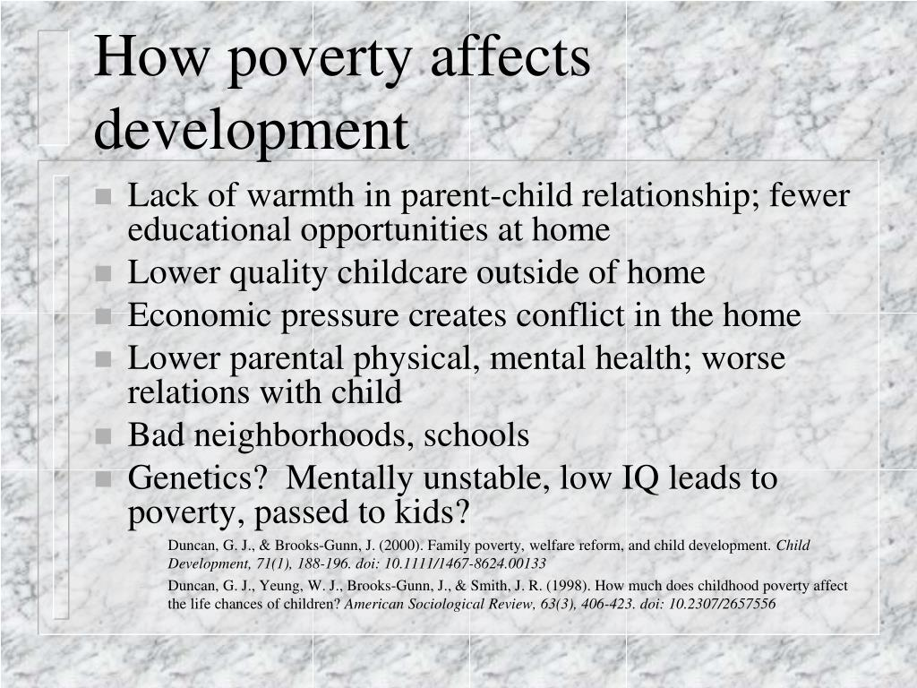 How poverty affects development