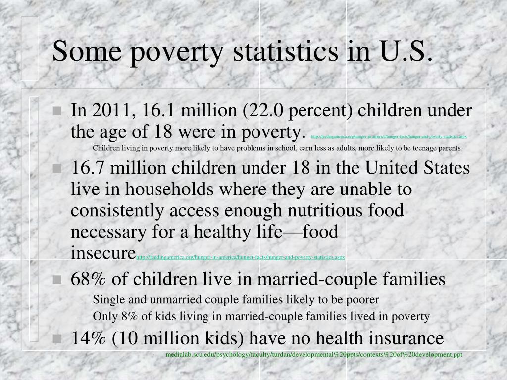 Some poverty statistics in U.S.