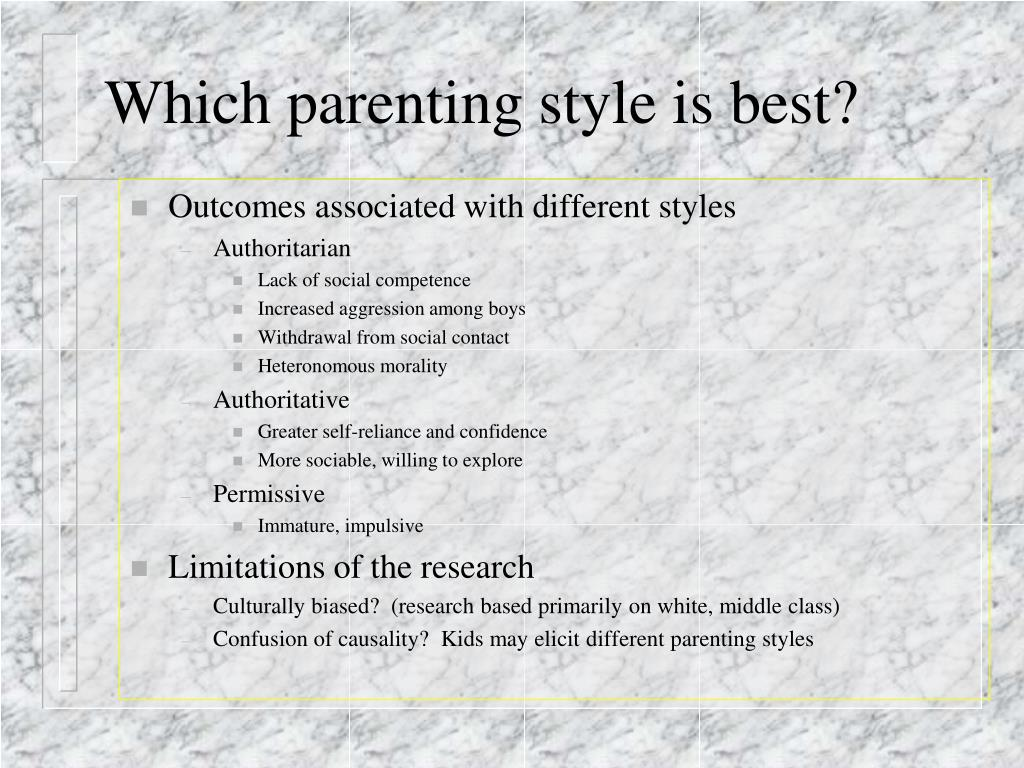 Which parenting style is best?
