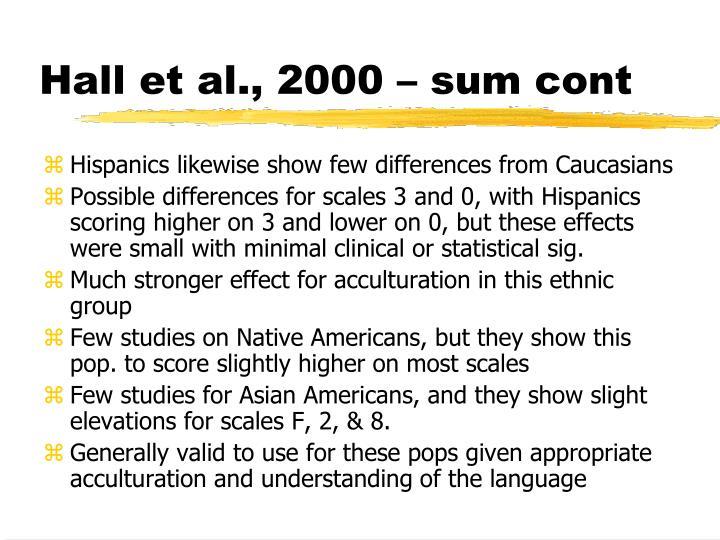 Hall et al., 2000 – sum cont