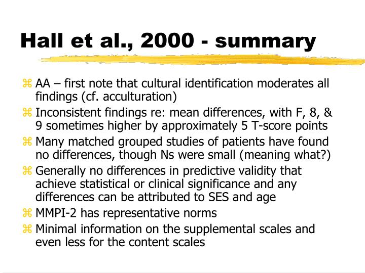 Hall et al., 2000 - summary