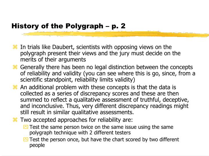 History of the Polygraph – p. 2