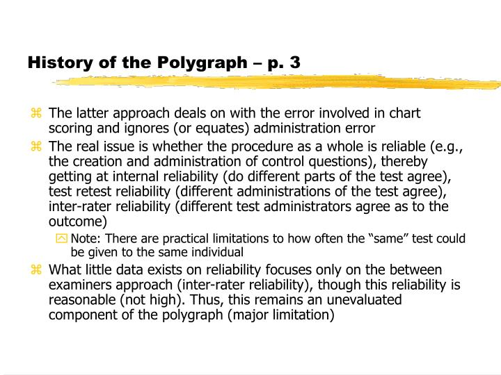 History of the Polygraph – p. 3
