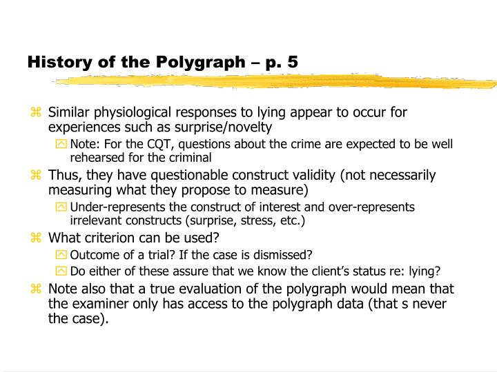 History of the Polygraph – p. 5