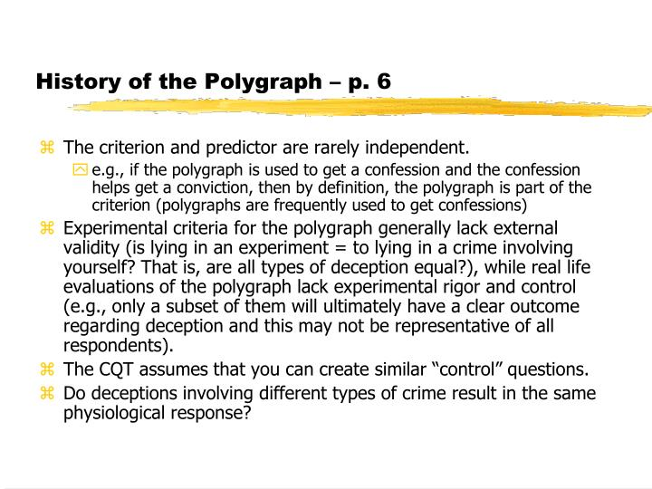 History of the Polygraph – p. 6