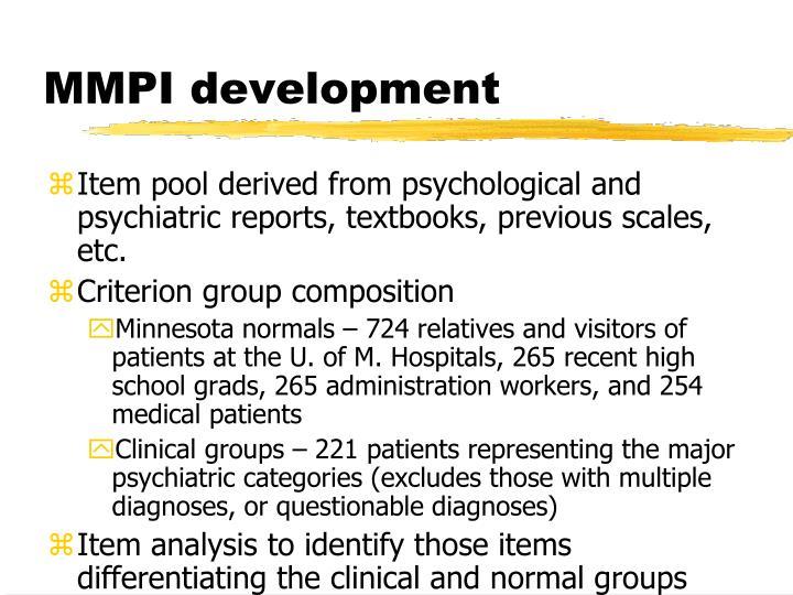 MMPI development