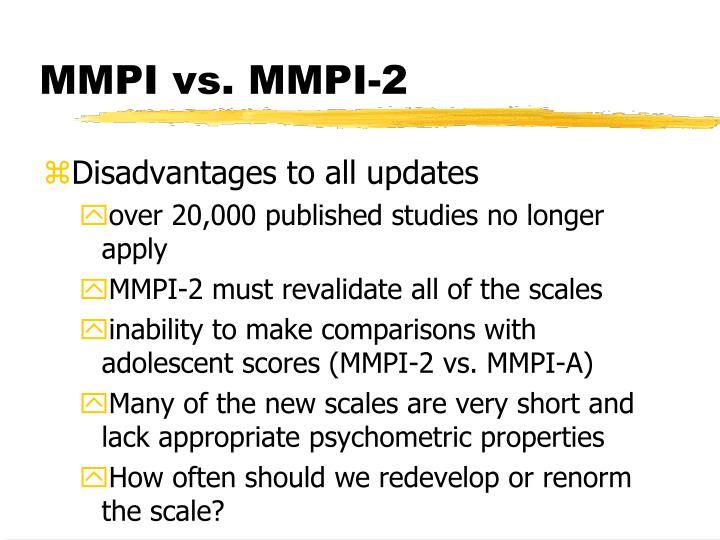 MMPI vs. MMPI-2