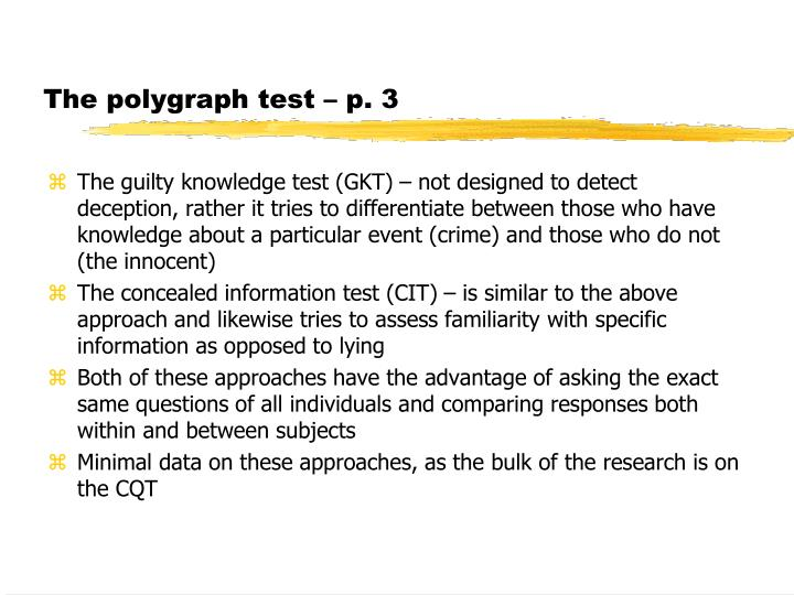 The polygraph test – p. 3