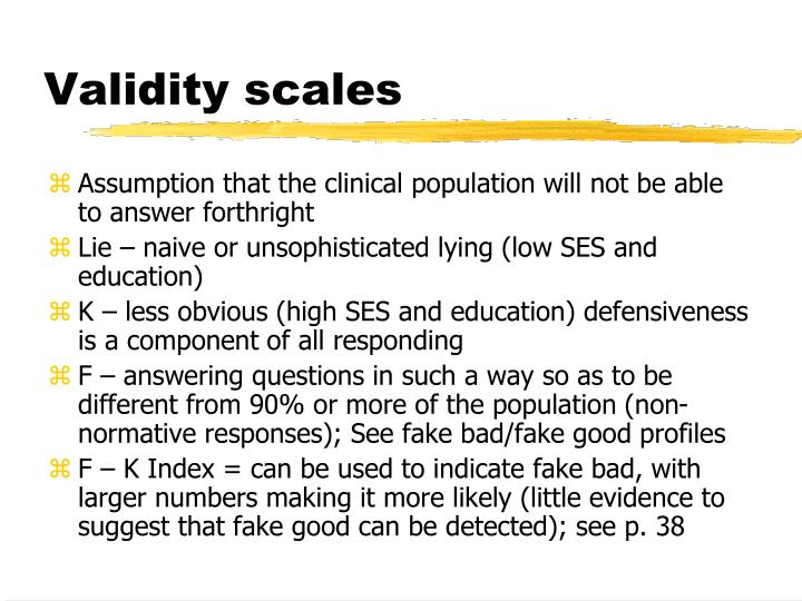 Validity scales