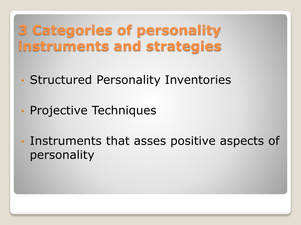 Structured Personality