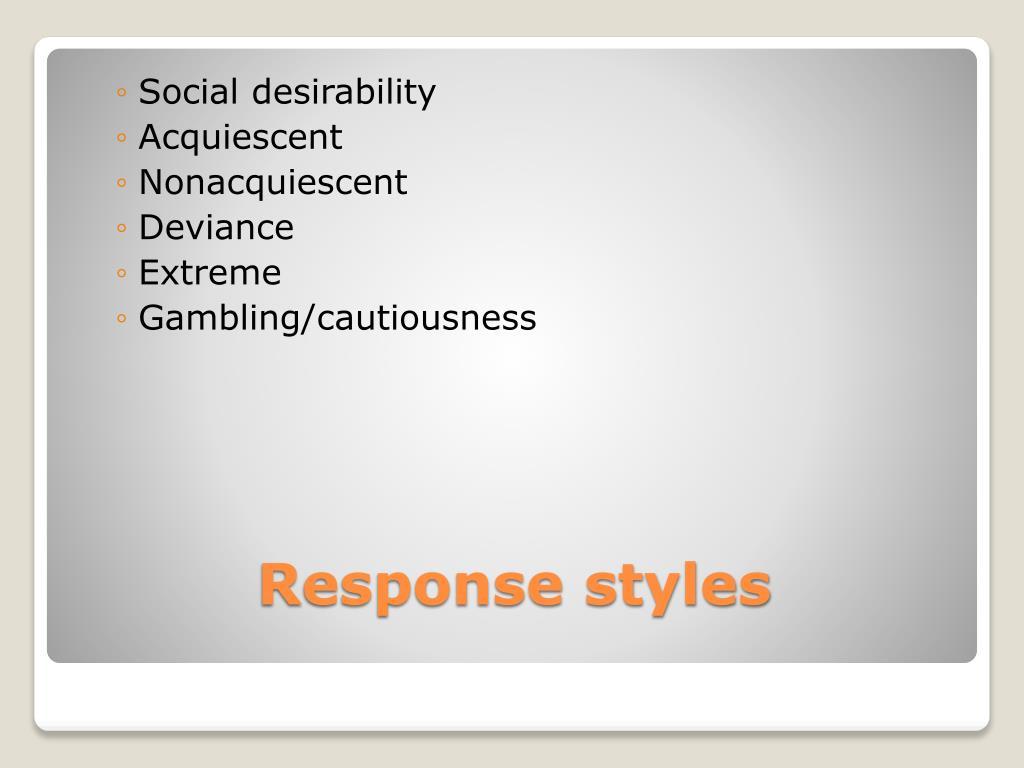 Social desirability