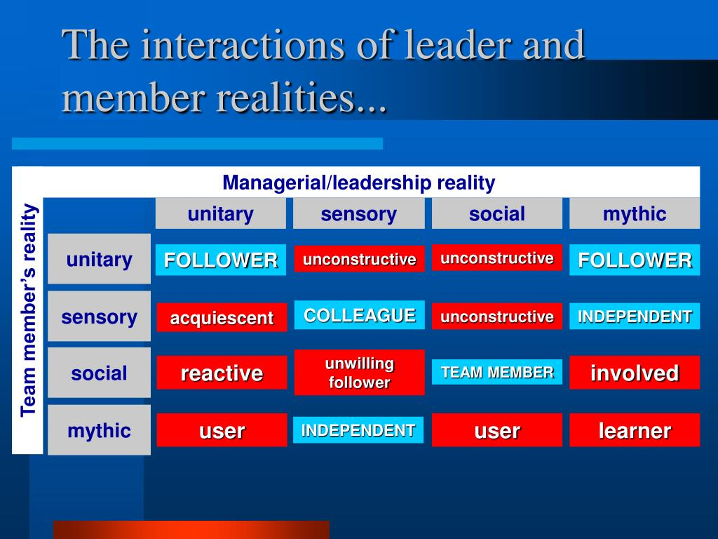 The interactions of leader and member realities...